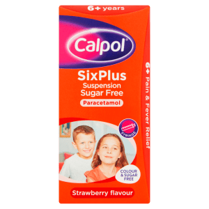 Calpol® SixPlus Suspension Sugar Free Strawberry Flavour 6+ Years 80ml