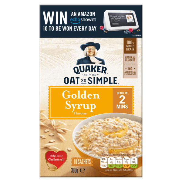 Cannich Stores : Quaker Oat So Simple Golden Syrup Porridge