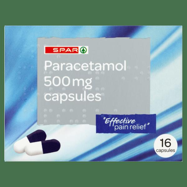 Spar Paracetamol 500mg Capsules 16 Capsules