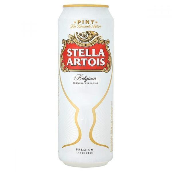 Stella Artois Lager Beer Pint can