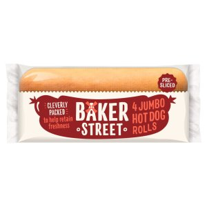 Baker St Jumbo Hot Dog Roll