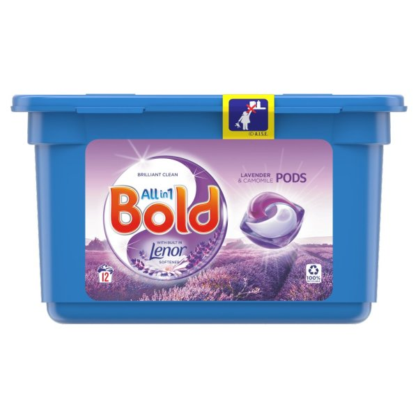 Bold All-in-1 Pods Washing Capsules Lavender & Camomile 12 Washes