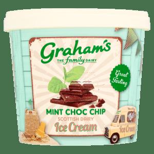 Grahams Mint Choc Chip Scottish Dairy Ice Cream 1 Litre