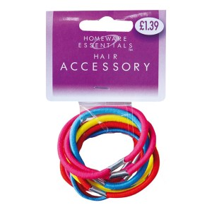 Homeware Essentials Coloured Hair Bands 12 Pack
