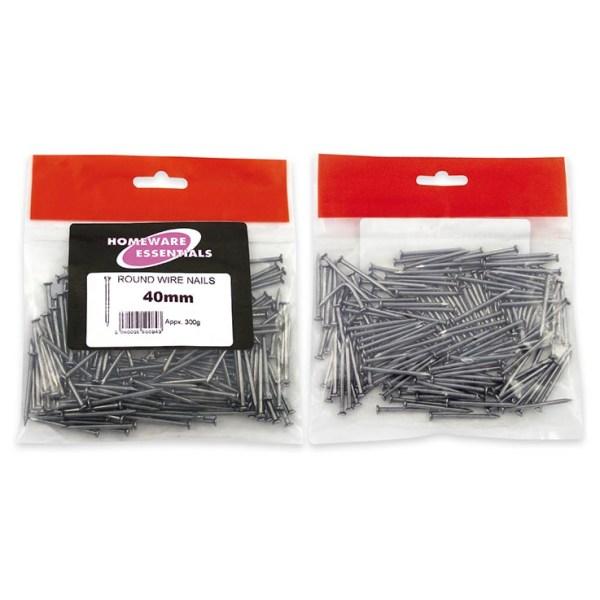 Homeware Essentials Round Wire Nails 40mm