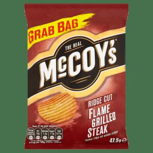 McCoys Flame Grilled Steak Ridge Cut Potato Crisps 47.5g