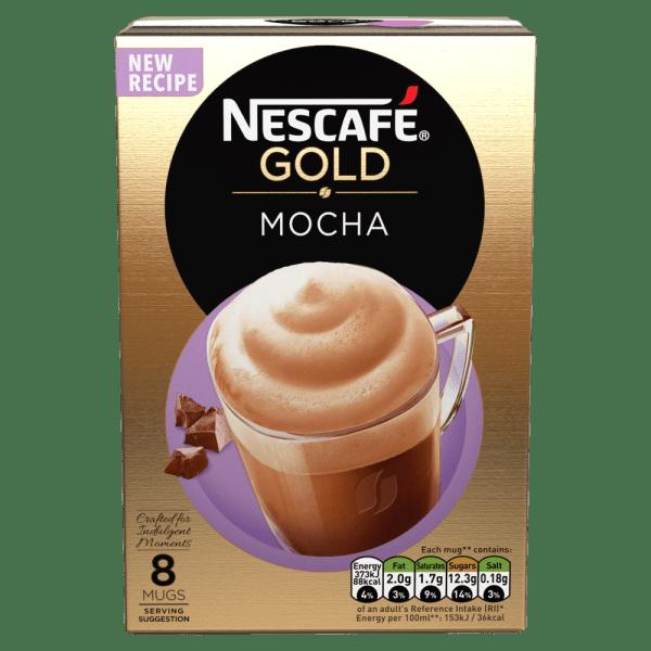 Nescafe Gold Mocha Coffee, 8 Sachets x 22g
