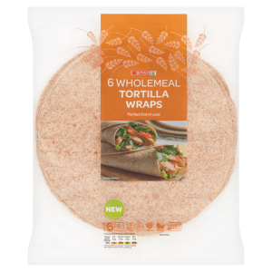 Spar 6 Wholemeal Tortilla Wraps 420g