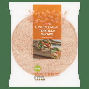 Spar 6 Wholemeal Tortilla Wraps 420g