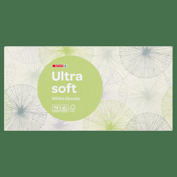 Spar 72 Ultra Soft White Tissues 3 Ply