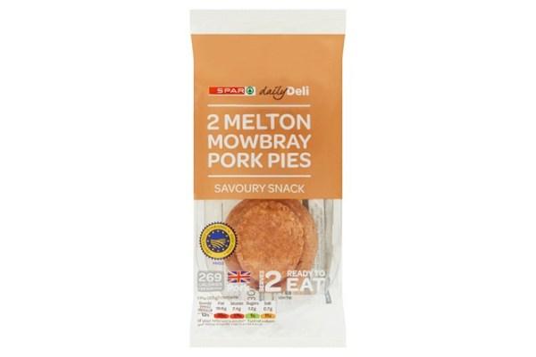 Spar Daily Deli Melton Mowbray Snack Pork Pies 2 x 65g (130g)