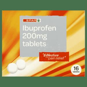 Spar Ibuprofen 200mg Tablets 16 Tablets