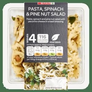 Spar Pasta, Spinach & Pine Nut Salad 200g
