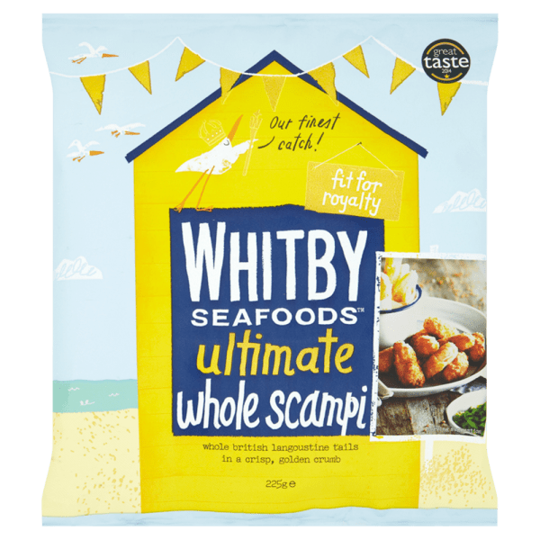 Whitby Seafoods Ultimate Whole Scampi 225g