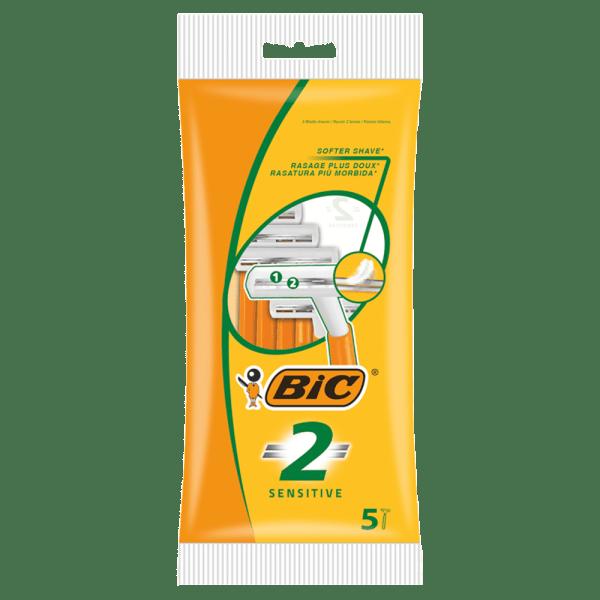 BIC 2 Sensitive Disposable Men's Razors - Pack of 5