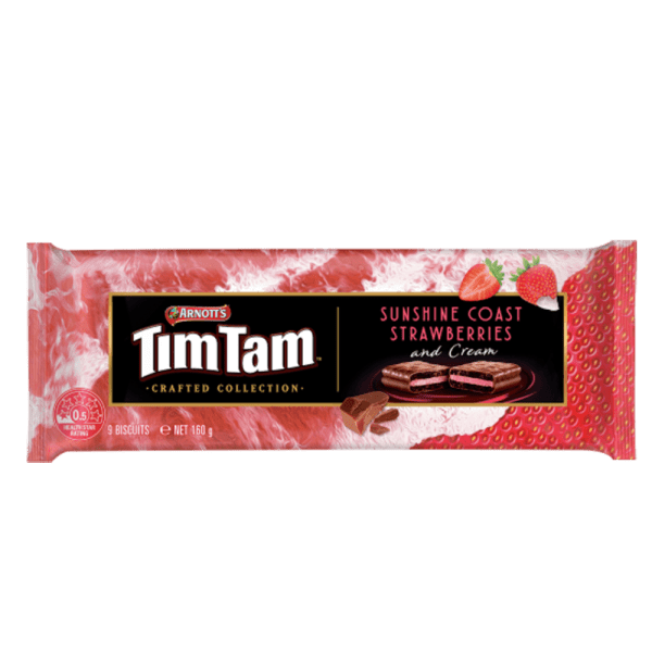 arnotts tim tam strawberries and cream