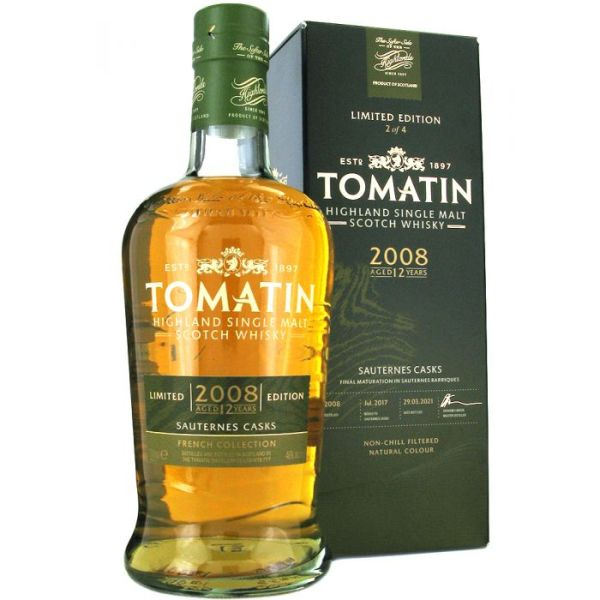Tomatin 12 Year Old 2008 Sauternes Cask Finish - French Collection