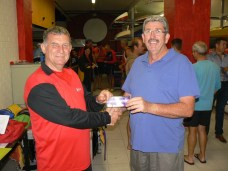 November 18th 2014 Dave Brown presenting tonights winner David Griffiths with a movie voucher