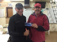 Tues 20th Sep 2016 : David Griffiths presenting David Urquhart with a movie voucher
