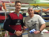 Tues 25th October 2016 : Tonights photo shows Jeff and last weeks winner Louis Botes accepting movie vouchers.