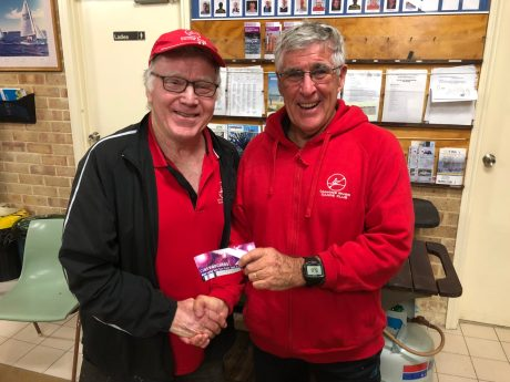Tues 26th June 2018 : Tonight's photo shows club member Joe Wilson presenting tonight's winner David Gardiner with a movie voucher.