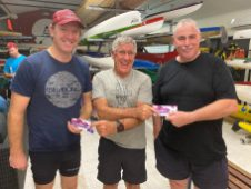 Tuesday 25th February 2020 : Tonight's photo shows club Committee member Joe Wilson presenting Simon O'Sullivan and Louis Botes with the winners movie voucher.