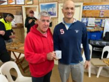 Tuesday 7th july 2020 : Tonight's photos shows club member Joe Wilson presenting Carlo Cottino with a movie voucher.