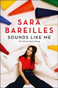 "This photo provided by courtesy of Simon and Schuster shows the cover of the book, ""Sounds Like Me,"" by Sara Bareilles. (Simon and Schuster via AP)"