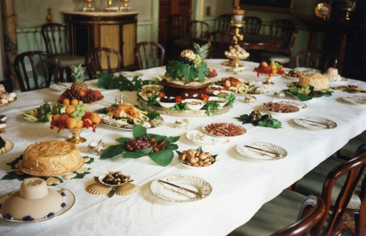 The presentation of the table was as important as the food they cooked