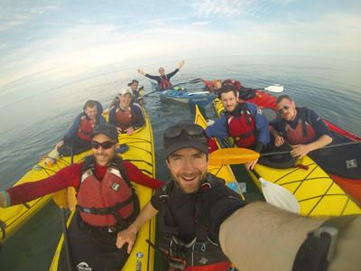Canoeing Ireland Scotland to Belfast Charity