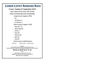 Lower Liffey ranking race
