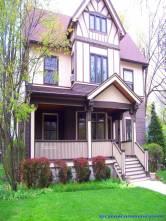 craftsman style house on the main street, La Grange Road
