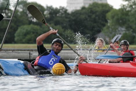 Canoe polo in London