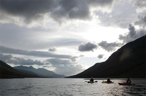 Kayakers on Loch Etive