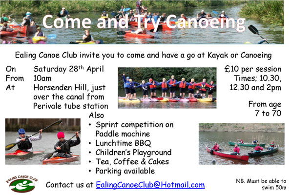 Ealing Canoe Club open day