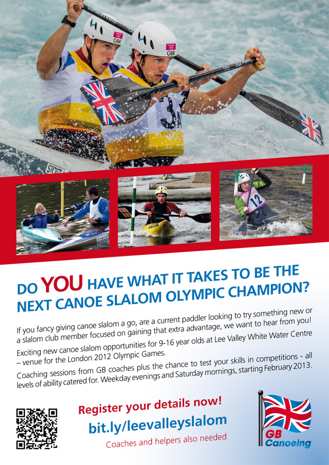 GB Canoeing Lee Valley Legacy Project Slalom