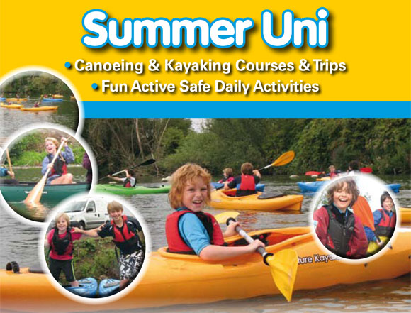 Summer holiday fun for children of all ages at Surrey Canoe Club