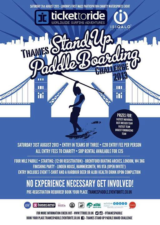 Thames Stand Up Paddle Boarding Challenge