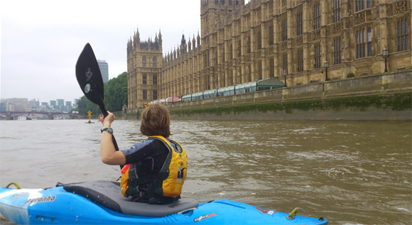 Kayaking on the River Thames