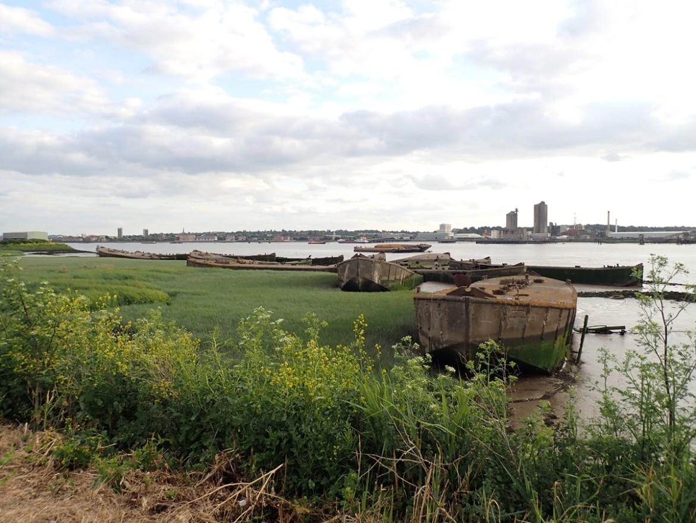 Concrete barges at Rainham