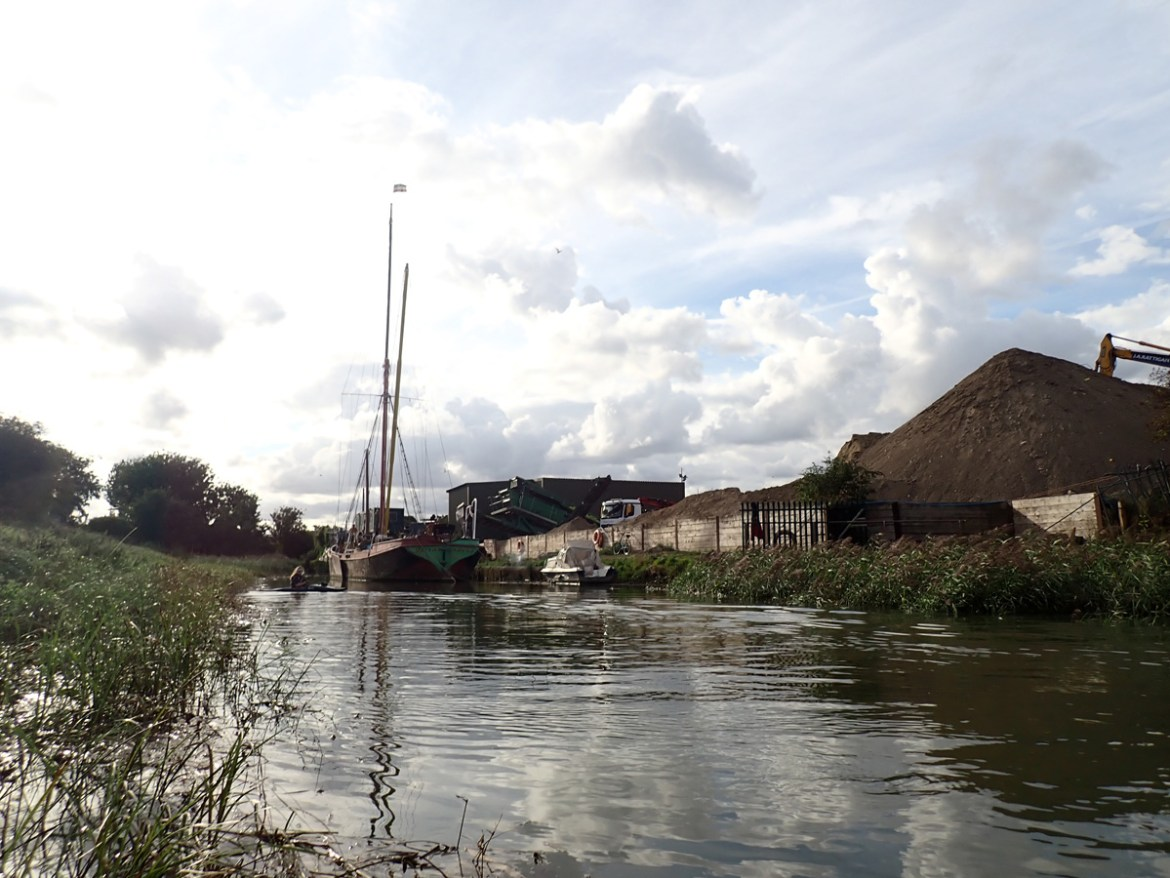 The Decima moored on the River Cray