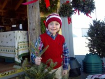 A Happy Customer at Dave's Maine Wreaths and Trees!