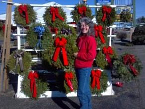 Wreaths on display at our Timbrook Square location