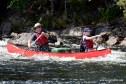 Dan and Liam paddling Little Falls