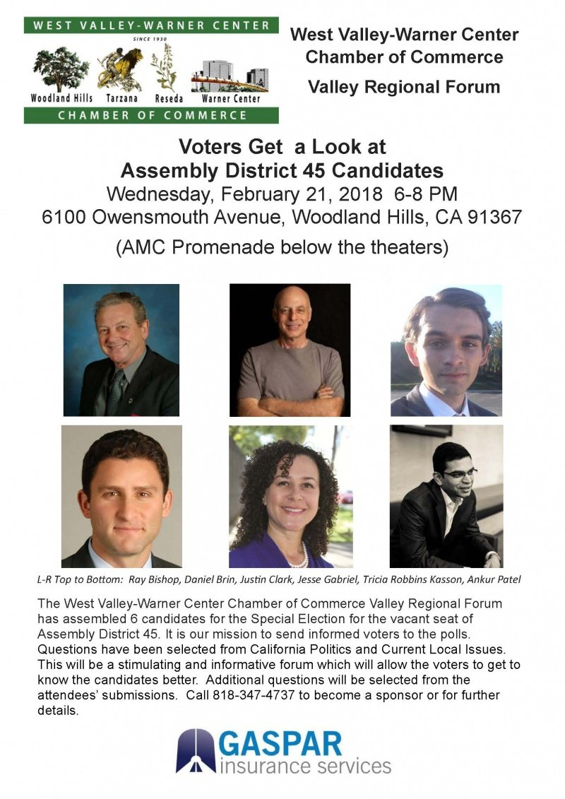 California Assembly District 45 Candidate Panel – February 21