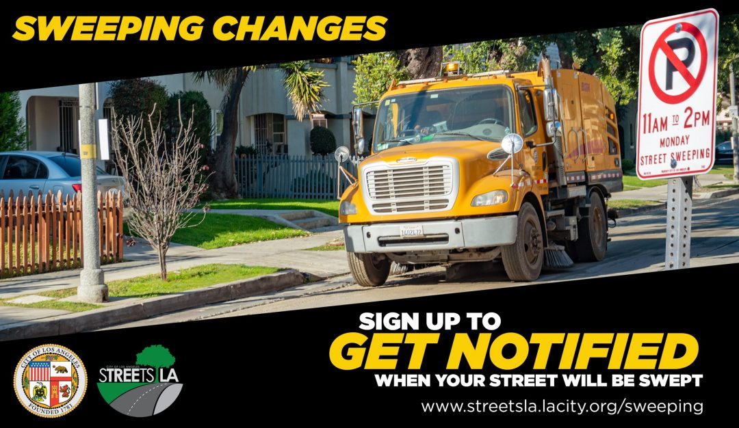 StreetsLA Street Sweeping Changes