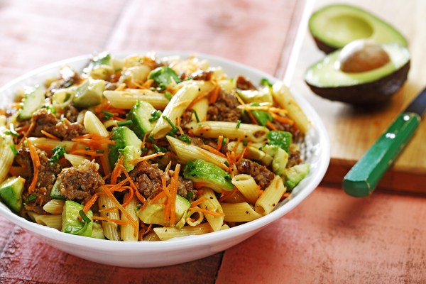 Italian Sausage Avocado amp Penne Pasta Salad in a Lime