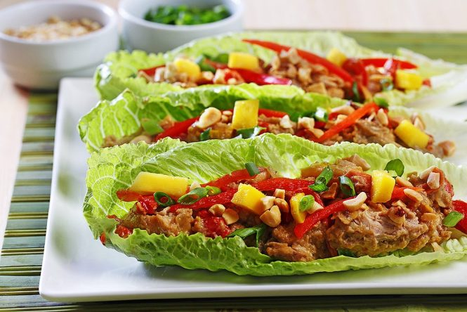 Thai Chicken with Lettuce Wrap