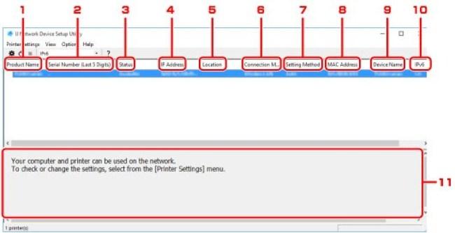 IJ Network Device Setup Utility Software