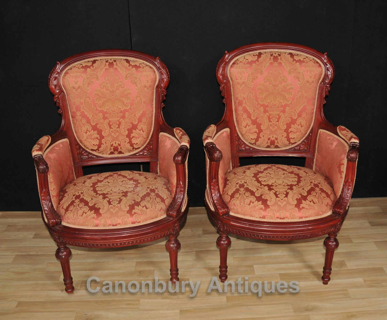 seat covers for chairs with arms nursing chair toys r us pair victorian arm mahogany seats sofa ebay